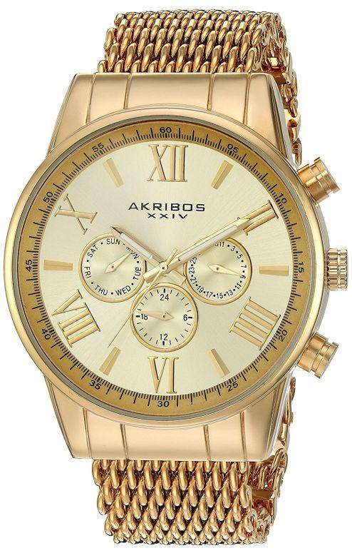 アクリボス Akribos XXIV 男性用 腕時計 メンズ ウォッチ ゴールド AK919YG 送料無料 【並行輸入品】