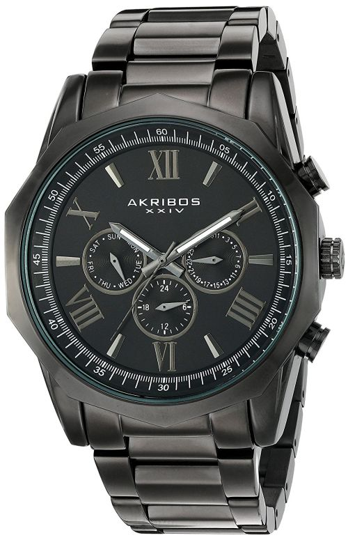 アクリボス Akribos XXIV 男性用 腕時計 メンズ ウォッチ ブラック AK940BK 送料無料 【並行輸入品】