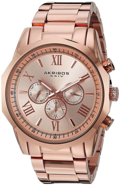 アクリボス Akribos XXIV 男性用 腕時計 メンズ ウォッチ ローズゴールド AK940RG 送料無料 【並行輸入品】