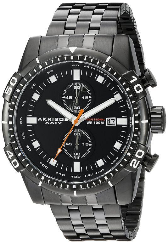 アクリボス Akribos XXIV 男性用 腕時計 メンズ ウォッチ クロノグラフ ブラック AK852BK 送料無料 【並行輸入品】