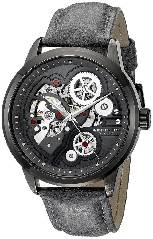 アクリボス Akribos XXIV 男性用 腕時計 メンズ ウォッチ グレー AK855GY 送料無料 【並行輸入品】