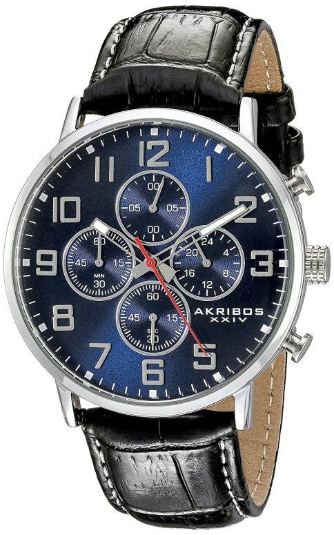 アクリボス Akribos XXIV 男性用 腕時計 メンズ ウォッチ クロノグラフ ブルー AK854SSBU 送料無料 【並行輸入品】