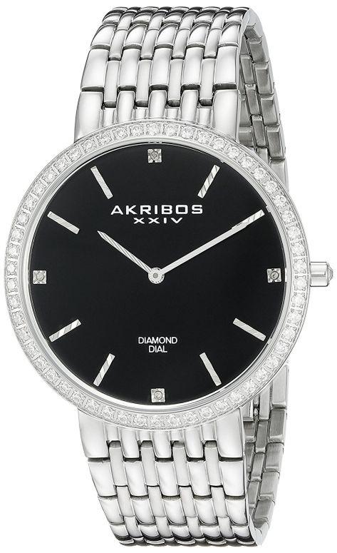 アクリボス Akribos XXIV 男性用 腕時計 メンズ ウォッチ ブラック AK866SSB 送料無料 【並行輸入品】