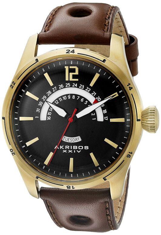 アクリボス Akribos XXIV 男性用 腕時計 メンズ ウォッチ ブラック AK850YG 送料無料 【並行輸入品】