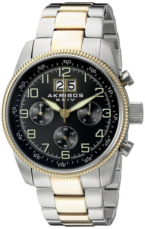 アクリボス Akribos XXIV 男性用 腕時計 メンズ ウォッチ クロノグラフ ブラック AK862TTG 送料無料 【並行輸入品】