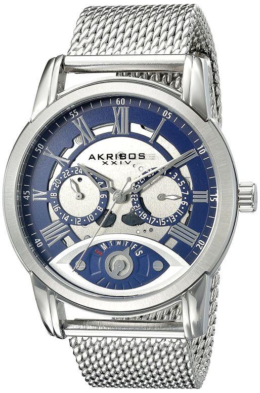 アクリボス Akribos XXIV 男性用 腕時計 メンズ ウォッチ シルバー ブルー AK846SSBU 送料無料 【並行輸入品】