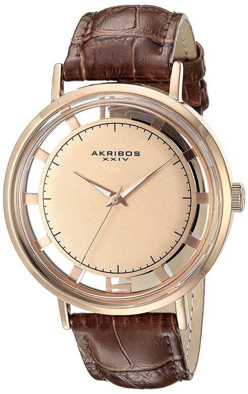 アクリボス Akribos XXIV 男性用 腕時計 メンズ ウォッチ ローズゴールド AK860RGBR 送料無料 【並行輸入品】