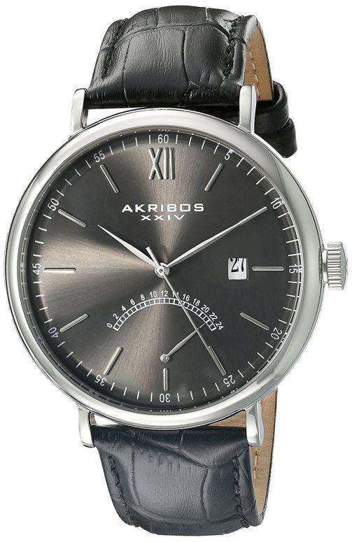 アクリボス Akribos XXIV 男性用 腕時計 メンズ ウォッチ グレー AK845SSB 送料無料 【並行輸入品】
