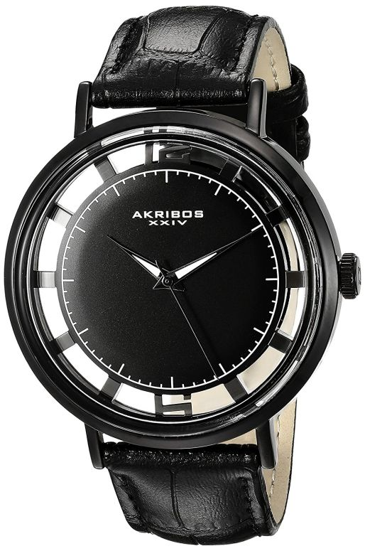 アクリボス Akribos XXIV 男性用 腕時計 メンズ ウォッチ ブラック AK860BK 送料無料 【並行輸入品】