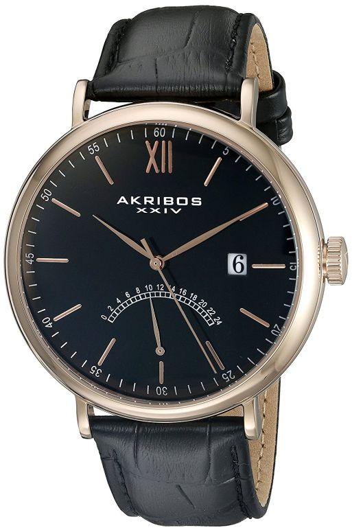 アクリボス Akribos XXIV 男性用 腕時計 メンズ ウォッチ ブラック AK845RGBK 送料無料 【並行輸入品】
