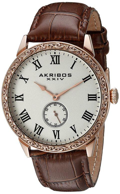 アクリボス Akribos XXIV 男性用 腕時計 メンズ ウォッチ ホワイト AK867RG 送料無料 【並行輸入品】