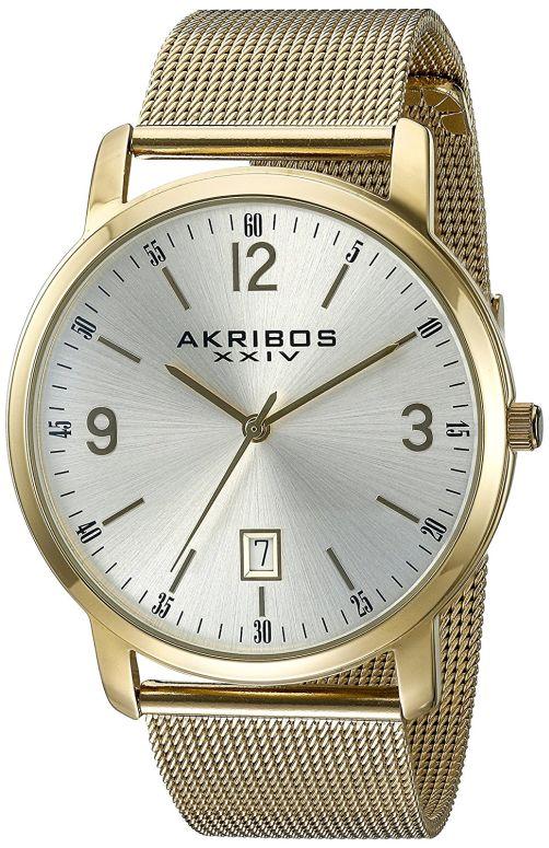 アクリボス Akribos XXIV 男性用 腕時計 メンズ ウォッチ シルバー AK858YG 送料無料 【並行輸入品】