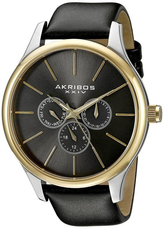 アクリボス Akribos XXIV 男性用 腕時計 メンズ ウォッチ シルバー AK870YGB 送料無料 【並行輸入品】