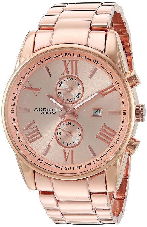 アクリボス Akribos XXIV 男性用 腕時計 メンズ ウォッチ ローズゴールド AK812RG 送料無料 【並行輸入品】