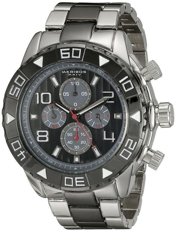 アクリボス Akribos XXIV 男性用 腕時計 メンズ ウォッチ クロノグラフ ブラック AK814TTB 送料無料 【並行輸入品】