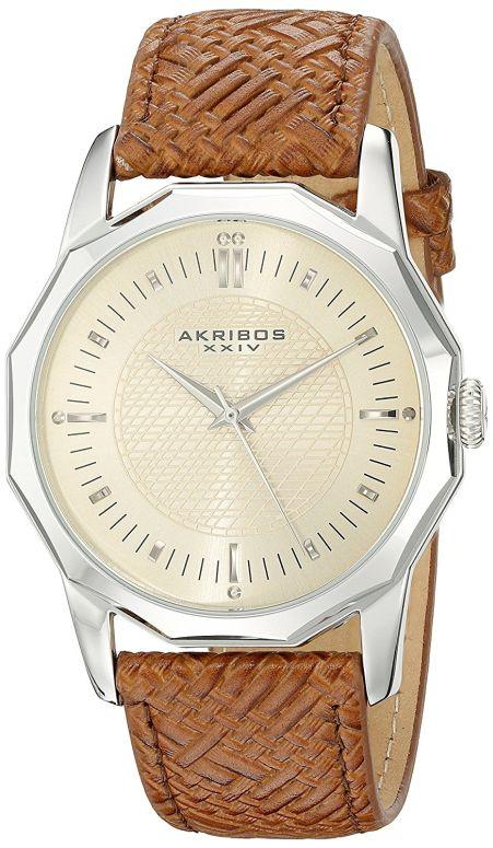 アクリボス Akribos XXIV 男性用 腕時計 メンズ ウォッチ ベージュ AK825SSBR 送料無料 【並行輸入品】
