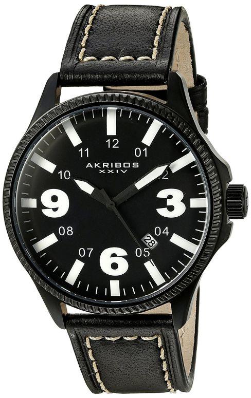 アクリボス Akribos XXIV 男性用 腕時計 メンズ ウォッチ ブラック AK833WT 送料無料 【並行輸入品】