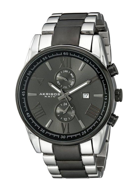 アクリボス Akribos XXIV 男性用 腕時計 メンズ ウォッチ ブラック AK812TTB 送料無料 【並行輸入品】