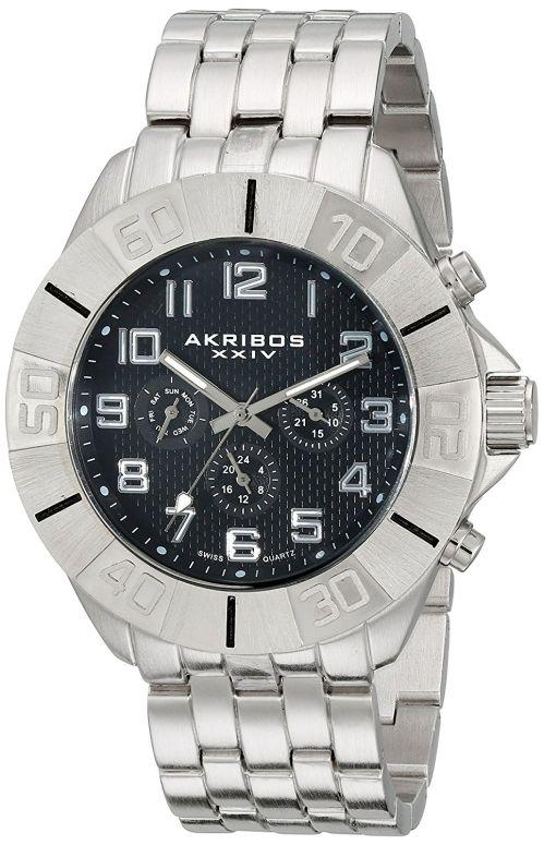 アクリボス Akribos XXIV 男性用 腕時計 メンズ ウォッチ ブラック AK767SSB 送料無料 【並行輸入品】
