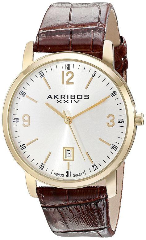 アクリボス Akribos XXIV 男性用 腕時計 メンズ ウォッチ シルバー AK780YG 送料無料 【並行輸入品】