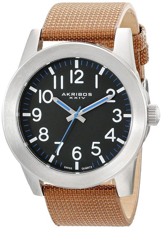 アクリボス Akribos XXIV 男性用 腕時計 メンズ ウォッチ ブラック AK779SSBR 送料無料 【並行輸入品】