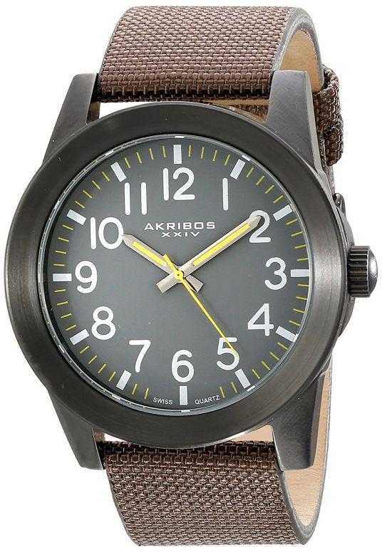 アクリボス Akribos XXIV 男性用 腕時計 メンズ ウォッチ グレー AK779BKBR 送料無料 【並行輸入品】