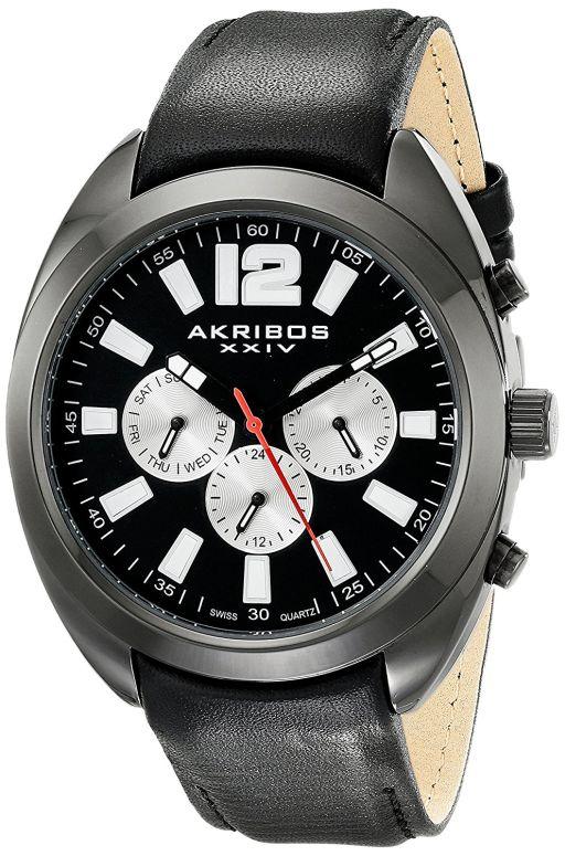 アクリボス Akribos XXIV 男性用 腕時計 メンズ ウォッチ ブラック AK777BK 送料無料 【並行輸入品】
