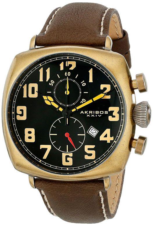 アクリボス Akribos XXIV 男性用 腕時計 メンズ ウォッチ クロノグラフ ブラック AK786YG 送料無料 【並行輸入品】