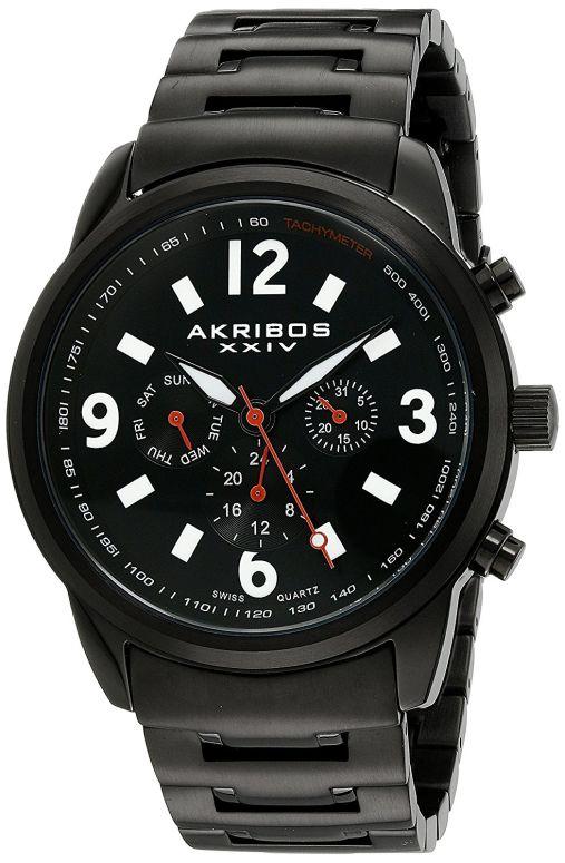 アクリボス Akribos XXIV 男性用 腕時計 メンズ ウォッチ ブラック AK783BK 送料無料 【並行輸入品】