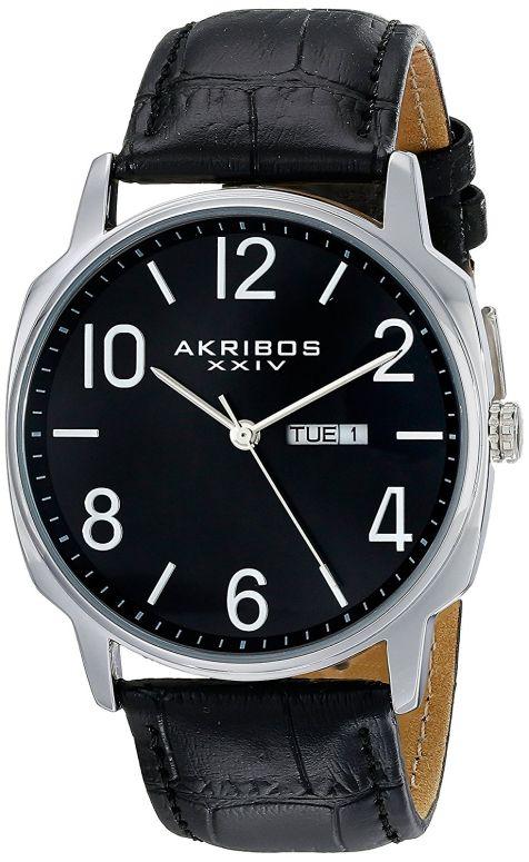 アクリボス Akribos XXIV 男性用 腕時計 メンズ ウォッチ ブラック AK801SSB 送料無料 【並行輸入品】