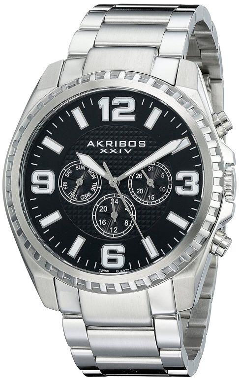 アクリボス Akribos XXIV 男性用 腕時計 メンズ ウォッチ ブラック AK774SSB 送料無料 【並行輸入品】