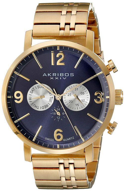 アクリボス Akribos XXIV 男性用 腕時計 メンズ ウォッチ ブルー AK782YGBU 送料無料 【並行輸入品】