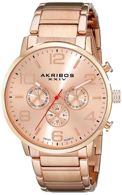アクリボス Akribos XXIV 男性用 腕時計 メンズ ウォッチ ローズゴールド AK803RG 送料無料 【並行輸入品】