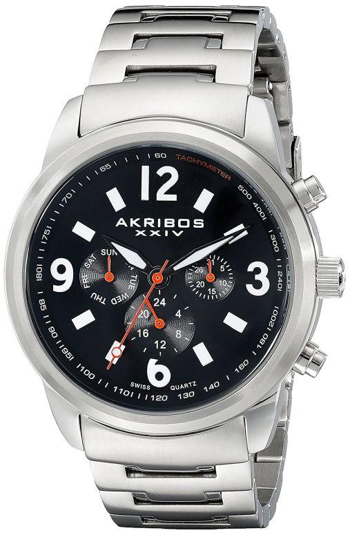 アクリボス Akribos XXIV 男性用 腕時計 メンズ ウォッチ ブラック AK783SSB 送料無料 【並行輸入品】