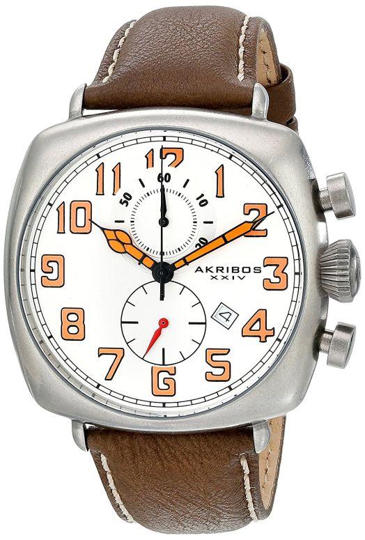 アクリボス Akribos XXIV 男性用 腕時計 メンズ ウォッチ クロノグラフ ホワイト AK786WT 送料無料 【並行輸入品】