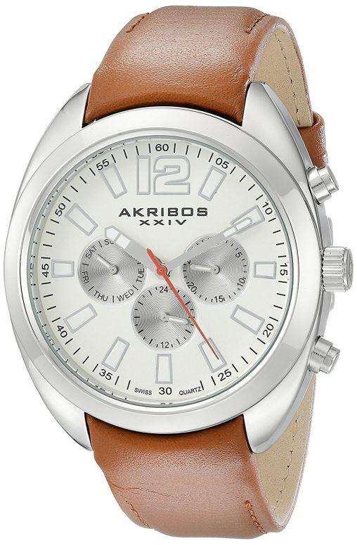 アクリボス Akribos XXIV 男性用 腕時計 メンズ ウォッチ ベージュ AK777SSBR 送料無料 【並行輸入品】