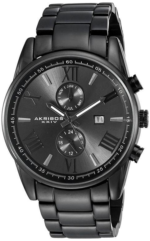 アクリボス Akribos XXIV 男性用 腕時計 メンズ ウォッチ ブラック AK812BK 送料無料 【並行輸入品】
