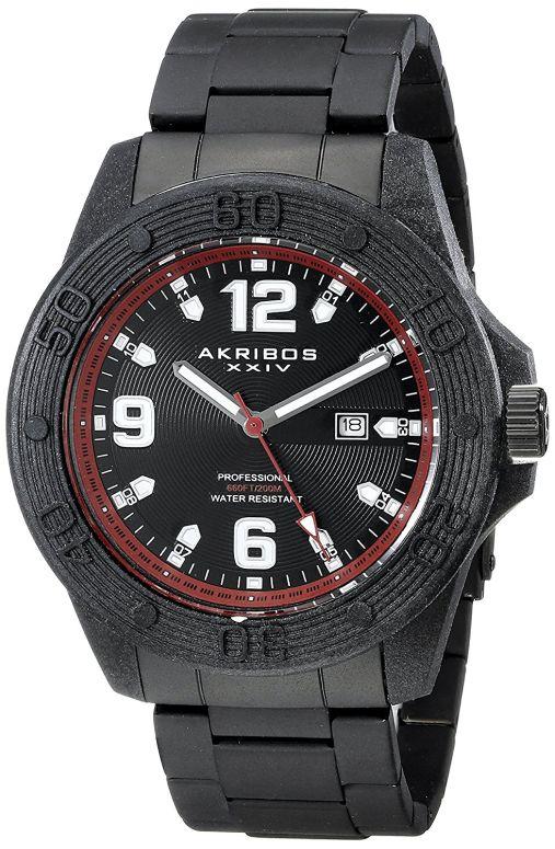 アクリボス Akribos XXIV 男性用 腕時計 メンズ ウォッチ ブラック AK797RD 送料無料 【並行輸入品】