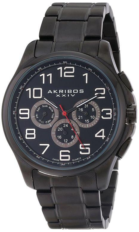 アクリボス Akribos XXIV 男性用 腕時計 メンズ ウォッチ ブラック AK748BK 送料無料 【並行輸入品】