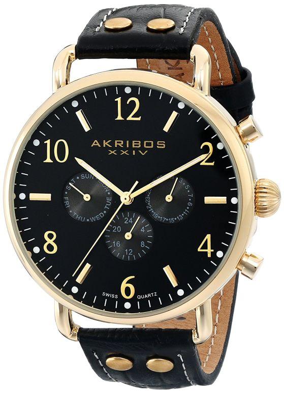 アクリボス Akribos XXIV 男性用 腕時計 メンズ ウォッチ ブラック AK752YGB 送料無料 【並行輸入品】