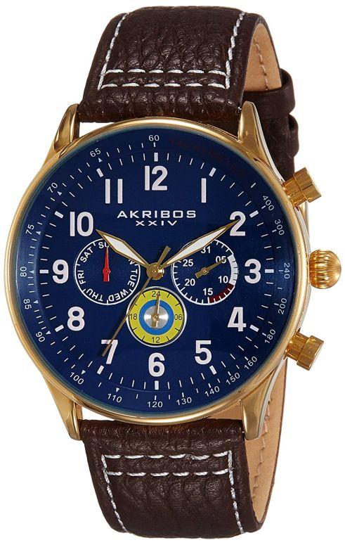 アクリボス Akribos XXIV 男性用 腕時計 メンズ ウォッチ ブルー AK751BR 送料無料 【並行輸入品】