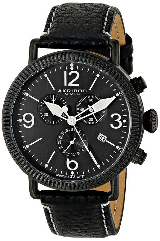 アクリボス Akribos XXIV 男性用 腕時計 メンズ ウォッチ クロノグラフ ブラック AK753BK 送料無料 【並行輸入品】
