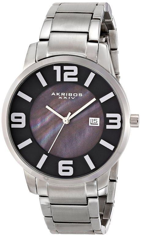 アクリボス Akribos XXIV 男性用 腕時計 メンズ ウォッチ ブラック AK566SSB 送料無料 【並行輸入品】