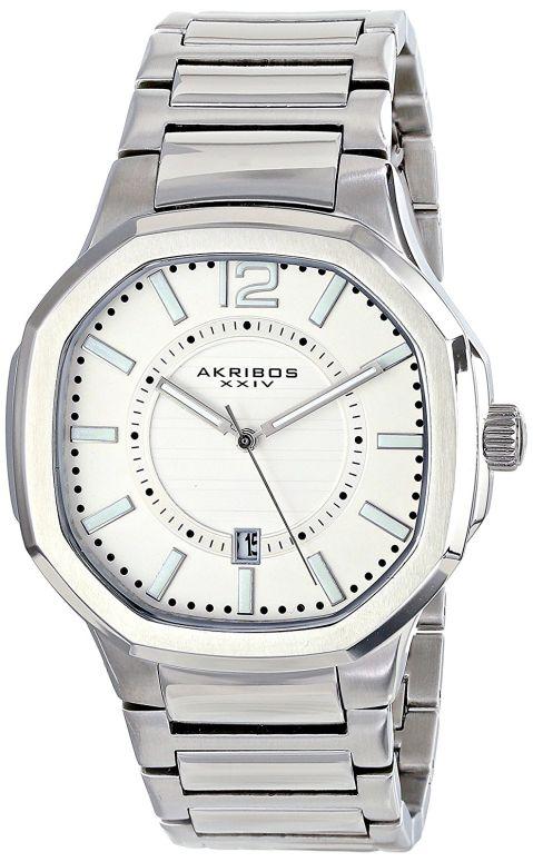 アクリボス Akribos XXIV 男性用 腕時計 メンズ ウォッチ ホワイト AK712SS 送料無料 【並行輸入品】
