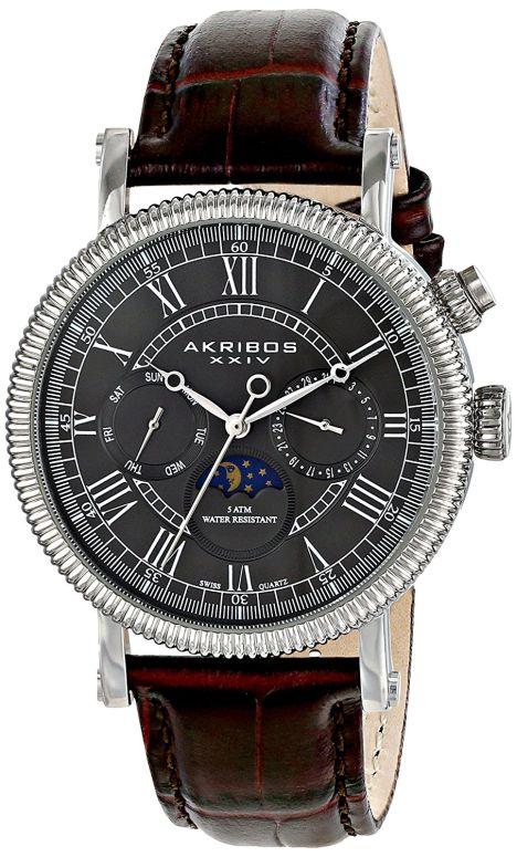 アクリボス Akribos XXIV 男性用 腕時計 メンズ ウォッチ グレー AK610SSBR 送料無料 【並行輸入品】