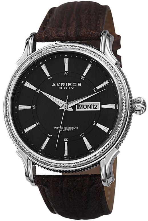 アクリボス Akribos XXIV 男性用 腕時計 メンズ ウォッチ ブラック AK726BR 送料無料 【並行輸入品】