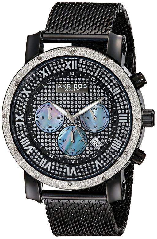 アクリボス Akribos XXIV 男性用 腕時計 メンズ ウォッチ クロノグラフ ブラック AK713BK 送料無料 【並行輸入品】