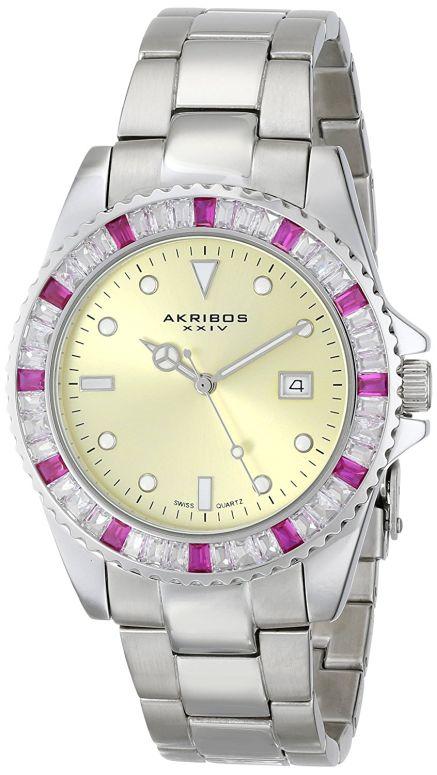 アクリボス Akribos XXIV 男性用 腕時計 メンズ ウォッチ ブラック AK702RD 送料無料 【並行輸入品】