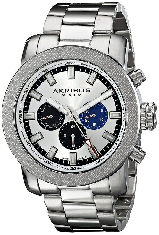 アクリボス Akribos XXIV 男性用 腕時計 メンズ ウォッチ シルバー AK684SS 送料無料 【並行輸入品】