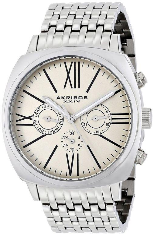 アクリボス Akribos XXIV 男性用 腕時計 メンズ ウォッチ シャンパン AK636SSW 送料無料 【並行輸入品】